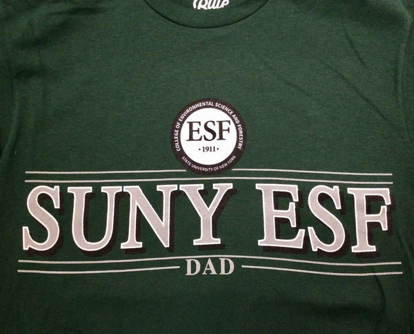 Dark green Dad T-Shirt with SUNY ESF and college seal