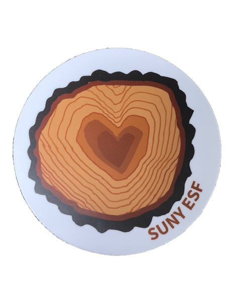 Heart in a Stump Sticker
