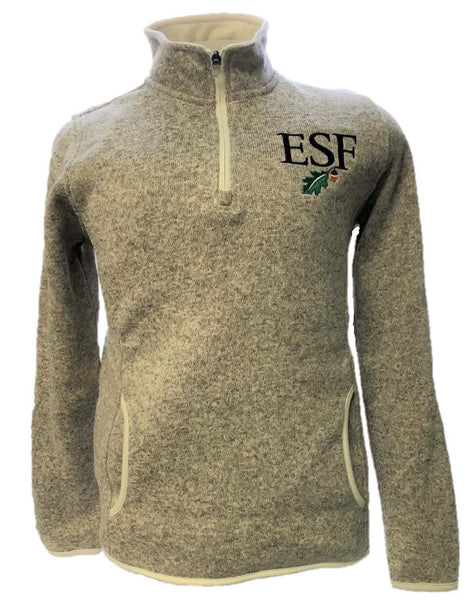 Heathered Fleece 1/4 Zip Pullover