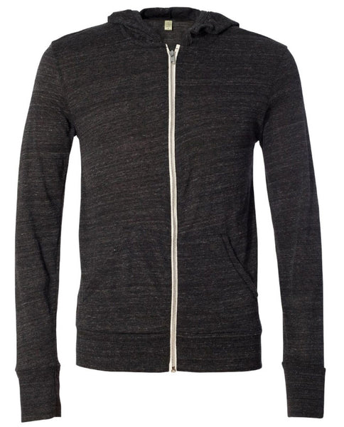Charcoal Scroll Ribbon Hooded Full-Zip