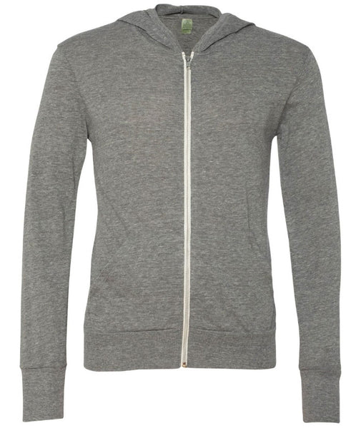 Grey Campsite Hooded Full-Zip