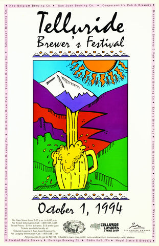1994 Telluride Blues & Brews Festival Poster