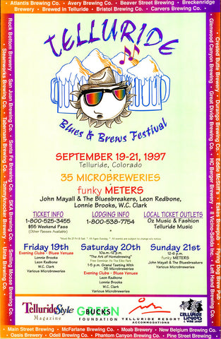 1997 Telluride Blues & Brews Festival Poster