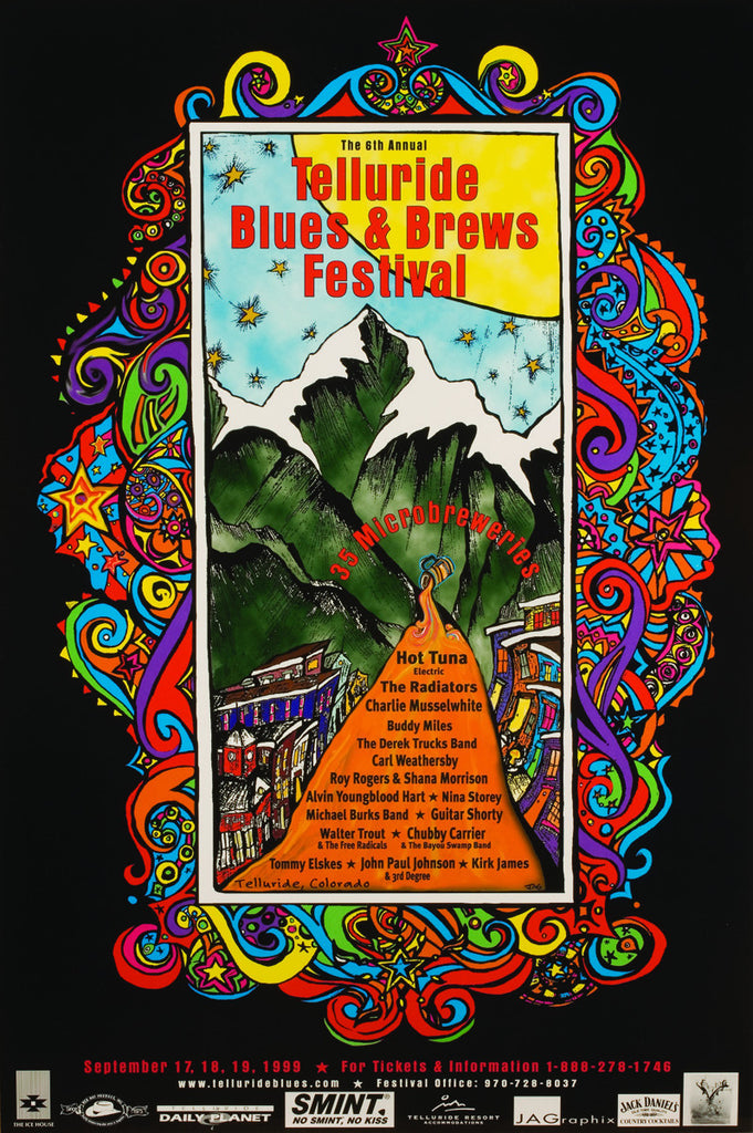 1999 Telluride Blues & Brews Festival Poster
