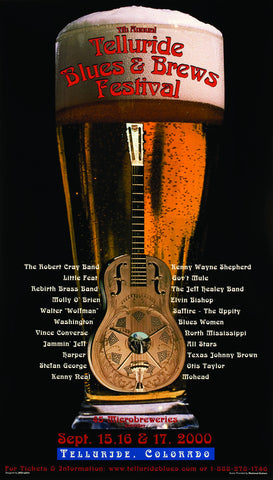 2000 Telluride Blues & Brews Festival Poster