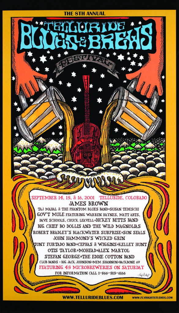 2001 Telluride Blues & Brews Festival Poster