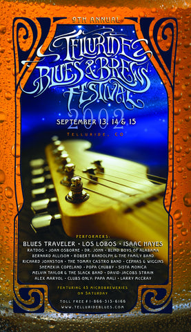 2002 Telluride Blues & Brews Festival Poster