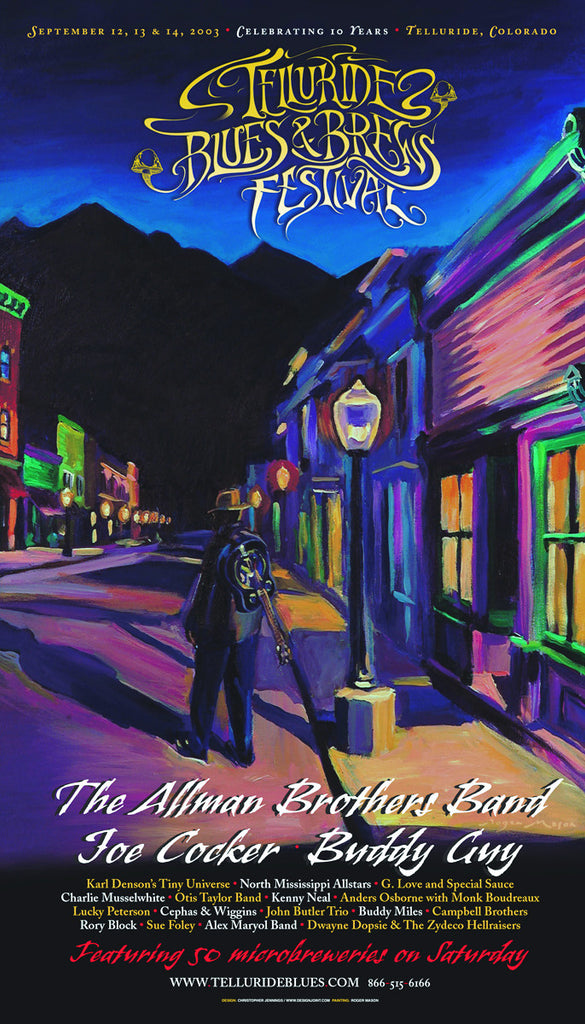 2003 Telluride Blues & Brews Festival Poster
