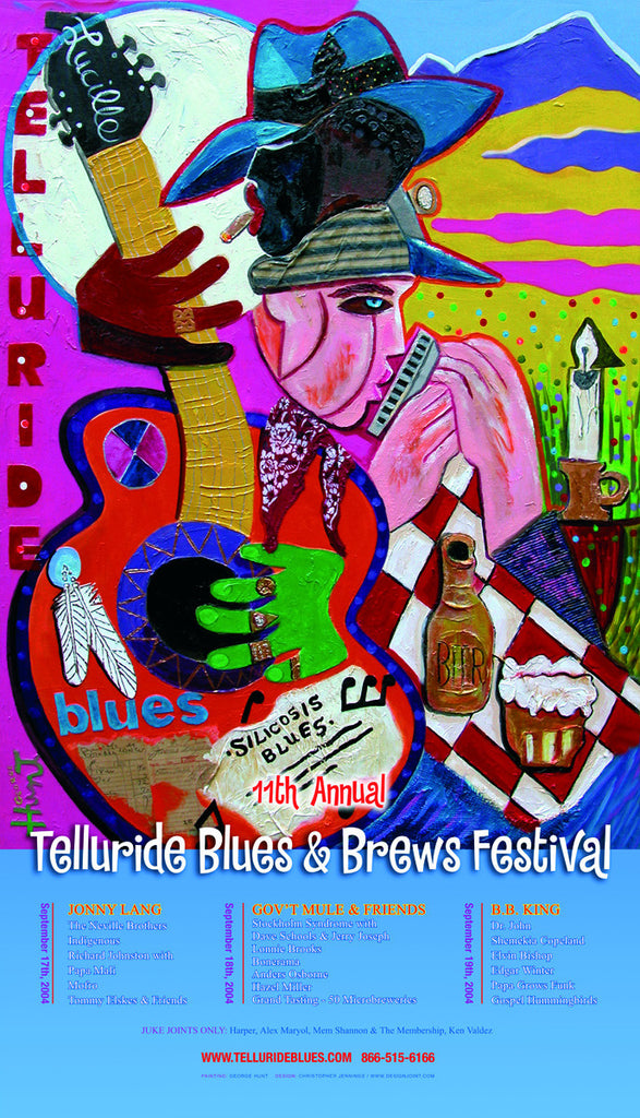 2004 Telluride Blues & Brews Festival Poster