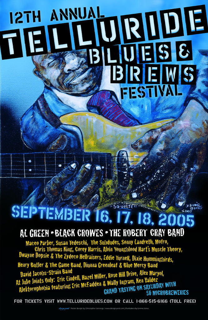 2005 Telluride Blues & Brews Festival Poster
