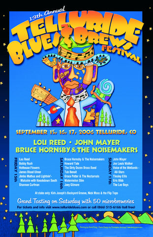 2006 Telluride Blues & Brews Festival Poster