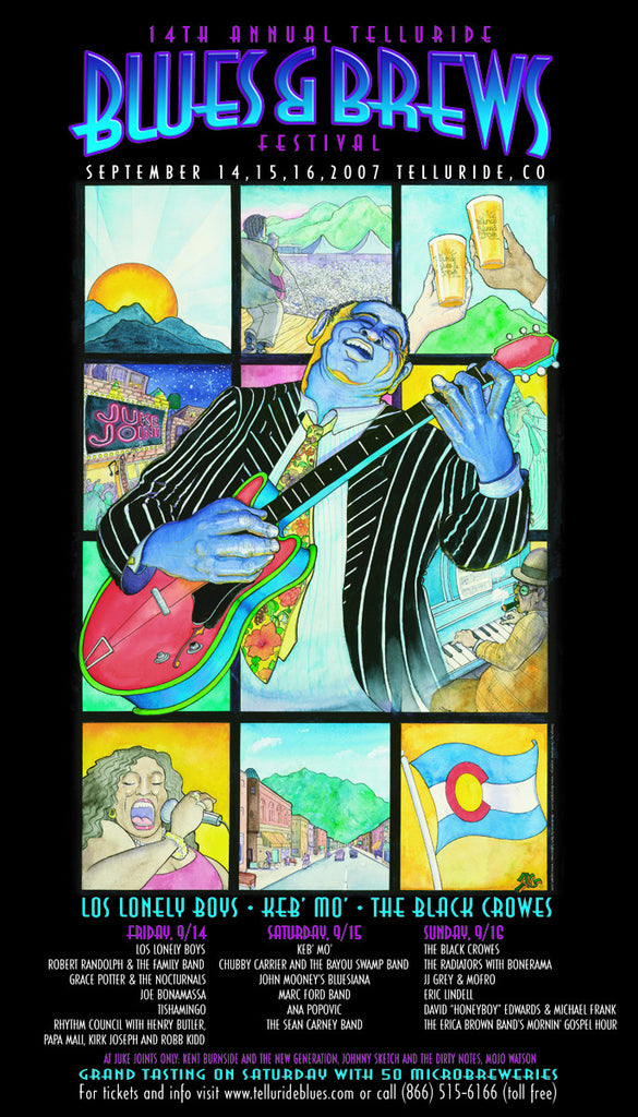2007 Telluride Blues & Brews Festival Poster
