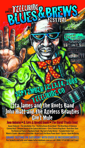 2008 Telluride Blues & Brews Festival Poster