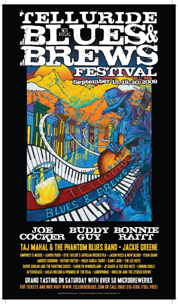 2009 Telluride Blues & Brews Festival Poster