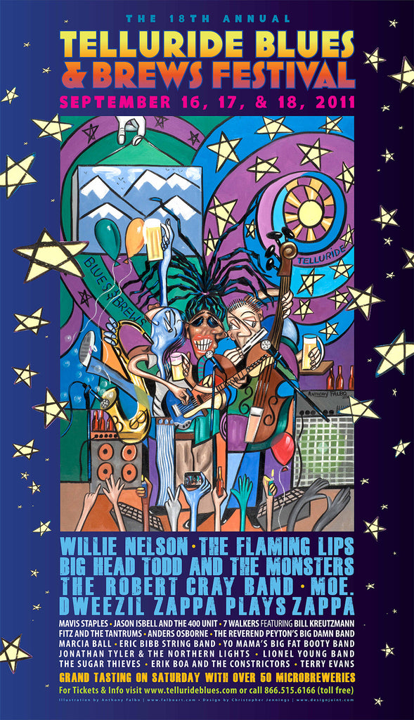 2011 Telluride Blues & Brews Festival Poster