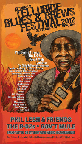 2012 Telluride Blues & Brews Festival Poster