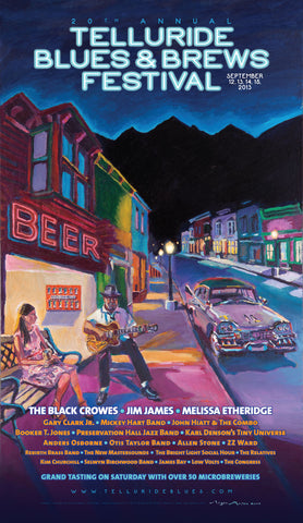 2013 Telluride Blues & Brews Festival Poster