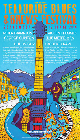 2014 Telluride Blues & Brews Festival Poster