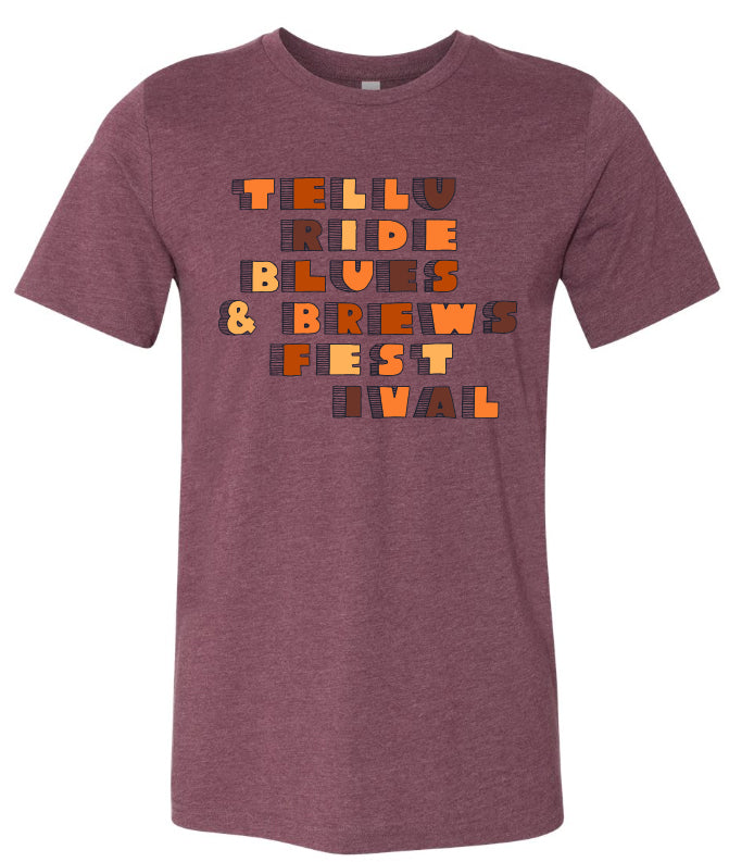 Unisex Heather Maroon Book Letter T-Shirt
