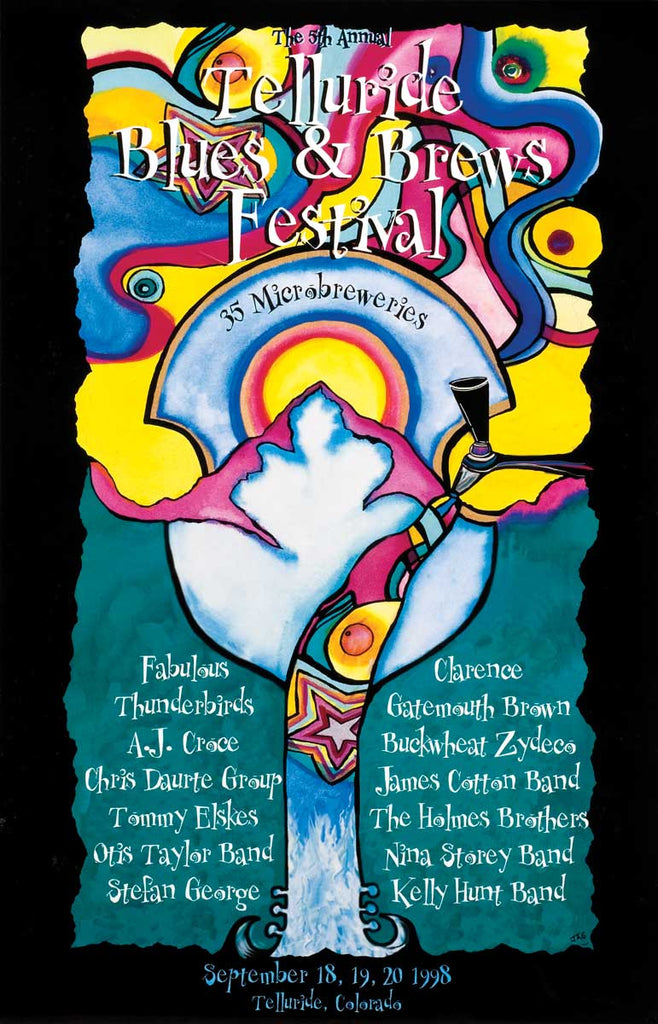 1998 Telluride Blues & Brews Festival Poster