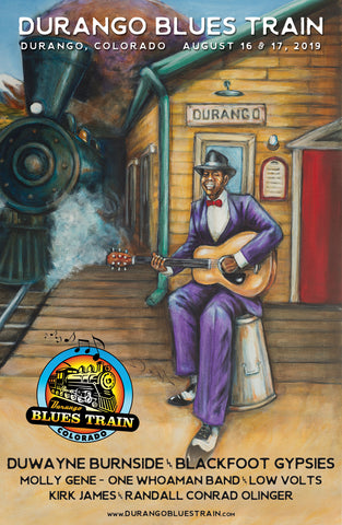 Durango Blues Train 2019 August Poster