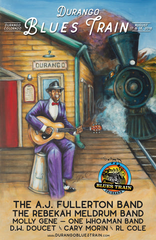 Durango Blues Train 2018 August Poster
