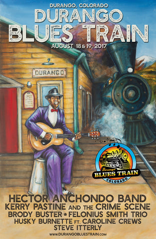 Durango Blues Train 2017 August Poster