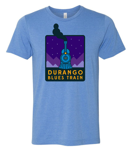 Durango Blues Train - Heather Columbia Blue Night Patch Shirt