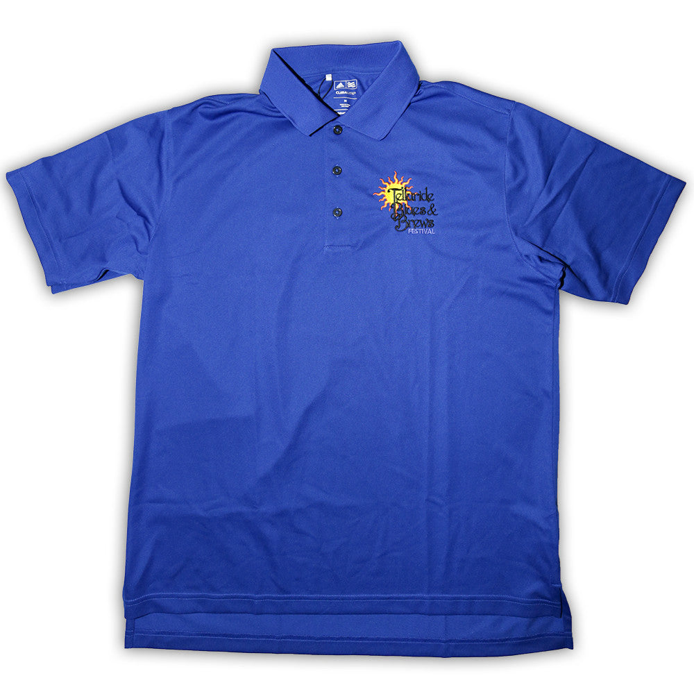 Blue Adidas Golf Polo
