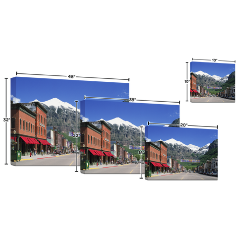 Telluride Blues Main Street Dekore Canvas Print (image wrapped)