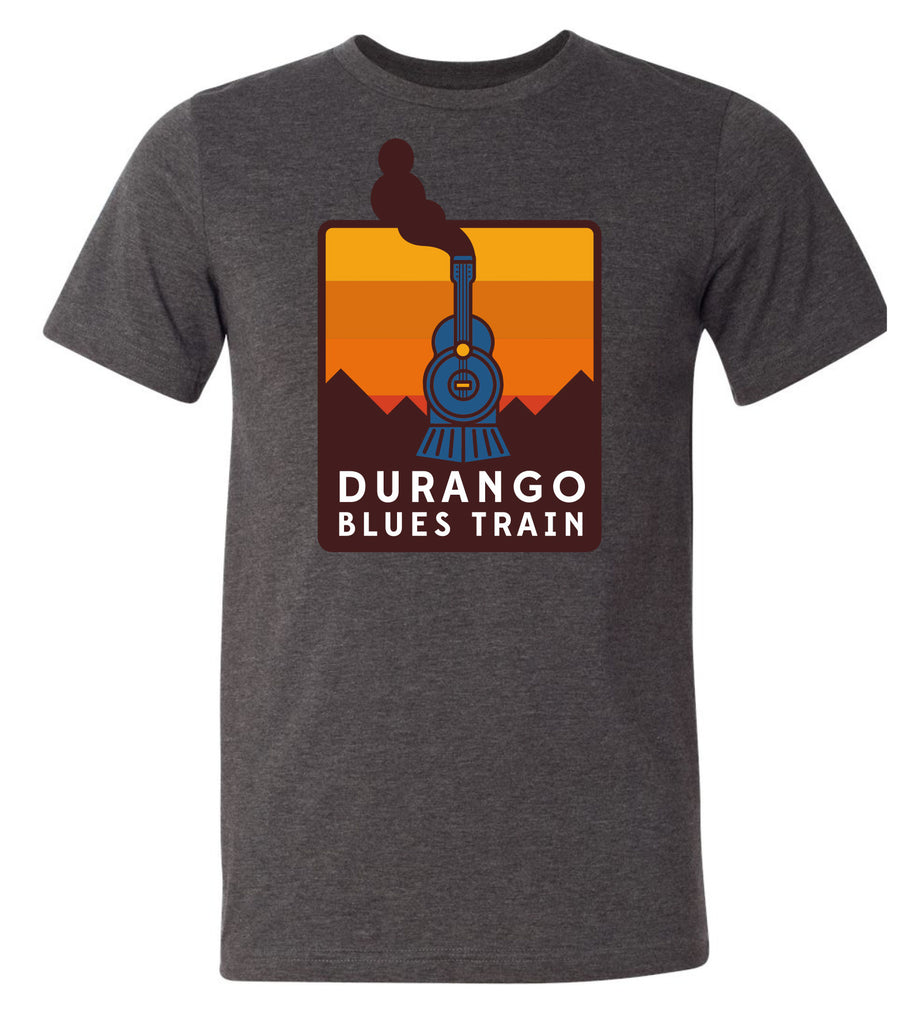 Durango Blues Train - Dark Gray Heather Sunset Patch Shirt