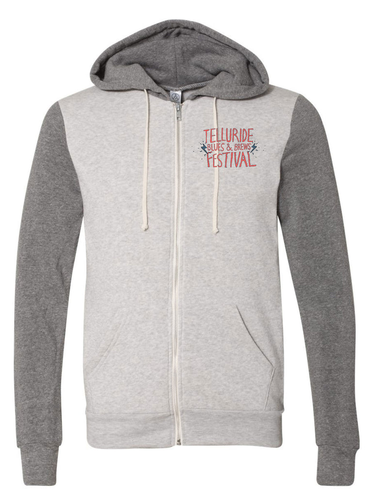 Eco Oatmeal/Eco Grey Unisex Full Zip
