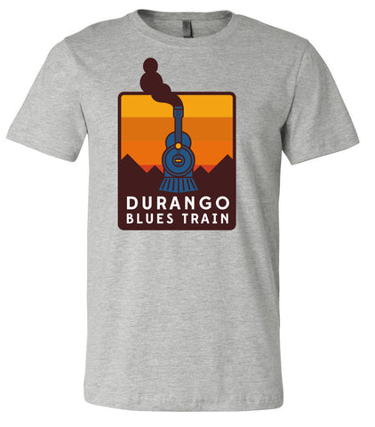 Durango Blues Train - Athletic Heather Sunset Patch Shirt