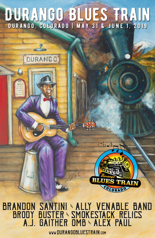 Durango Blues Train 2019 June Poster