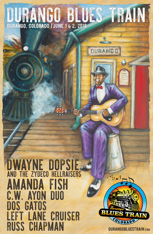 Durango Blues Train 2018 June Poster