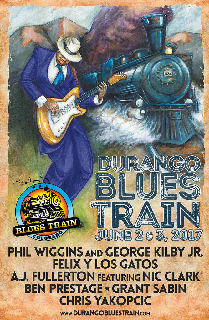 Durango Blues Train - 2017 June Poster