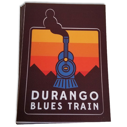 Durango Blues Train - Kiss Cut Sticker
