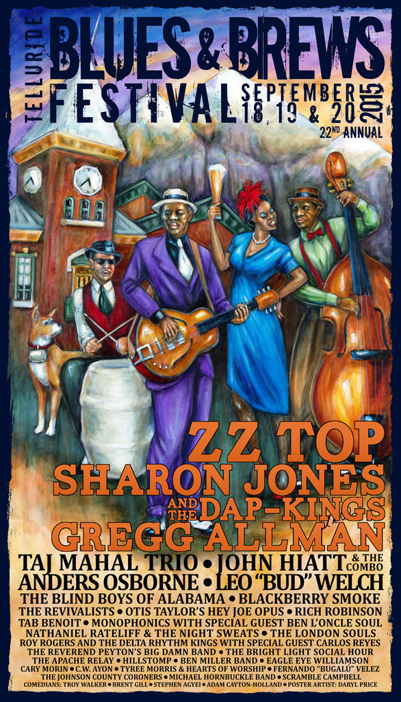 2015 Telluride Blues & Brews Festival Poster