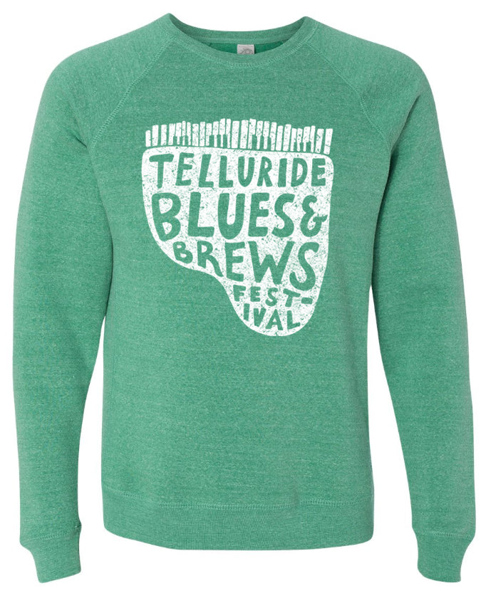 Sea Green Piano Crewneck Sweatshirt