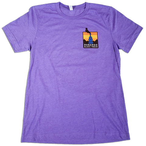 Durango Blues Train - Patch T-Shirt (Purple)