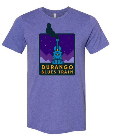 Durango Blues Train - Heather Lapis Night Patch Shirt