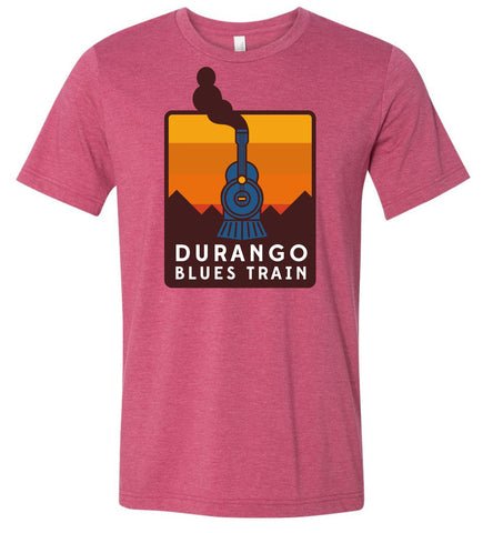 Durango Blues Train - Heather Raspberry Sunset Patch Shirt