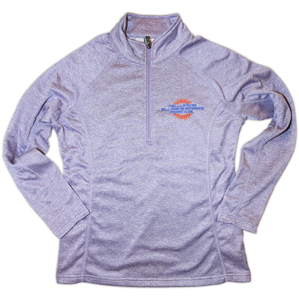 Women's Quarter-Zip Purple Tech Pullover