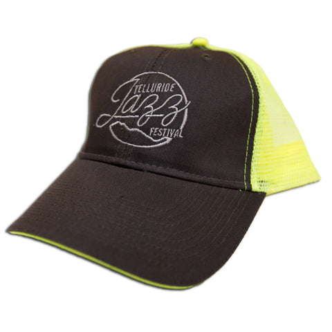 Telluride Jazz Festival - Neon Yellow and Charcoal Snap-back Trucker Hat