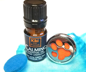 Calming can help reduce stress & anxiety in this organic & wild-crafted essential oil blend. Safe, gentle and hand-crafted to calm together with select EO's & flower essences make Kiki & Friends Aromatics a great choice. Includes stainless steel car vent diffuser with two high quality, non-toxic, wool and cotton pads.