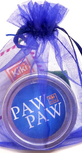 Paw Paw Herbal Salve  For all your paws.  To protect paws from hot or icy surfaces. Also can be used as a general salve and for peoples' paws as well. Contains no essential oils. Safe for everyone, including cats.  Massage on paws/hands