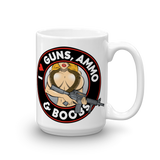I love Guns, Ammo, & Boobs Mug