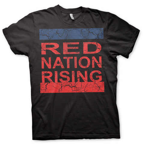 RED NATION RISING (Distress) Black T-Shirt