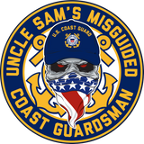 Misguided Coast Guard Decal 5""