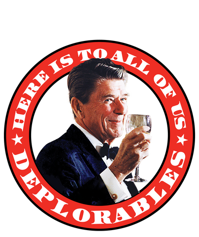Reagan Deplorables Sticker 5""